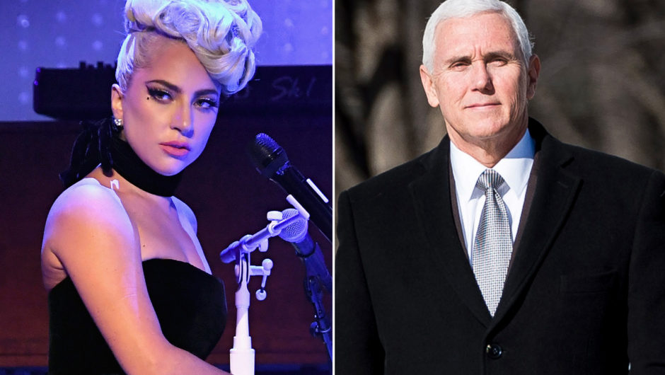 Lady Gaga pummels Mike Pence amid Las Vegas performance