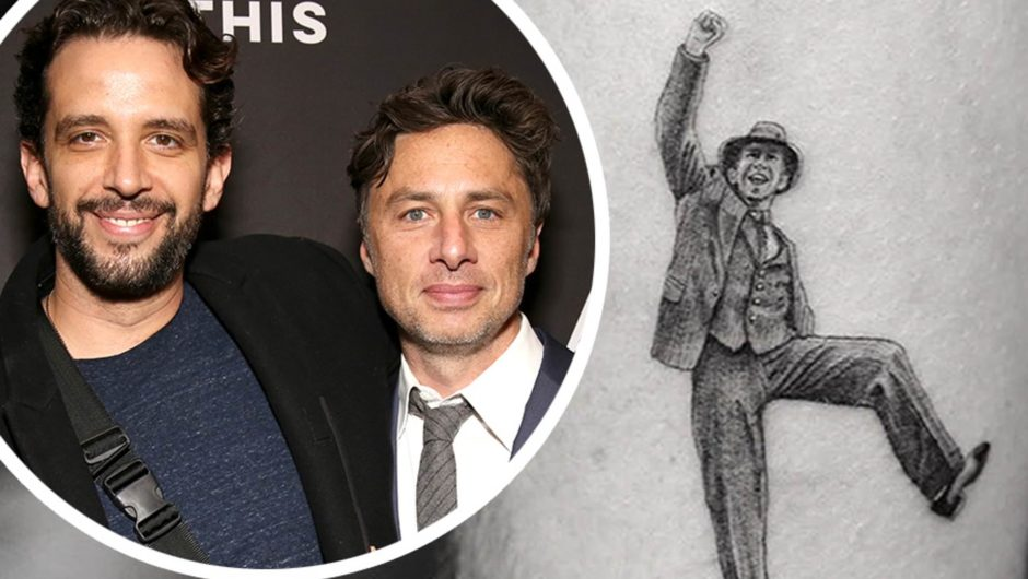 Zach Braff tribute to his late friend Nick Cordero with a tattoo