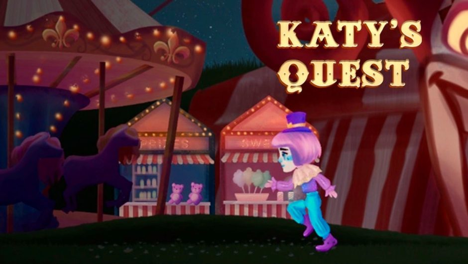 "Katy Perry will release a circus video game on the same day as an album from her ""Smile"" music video"