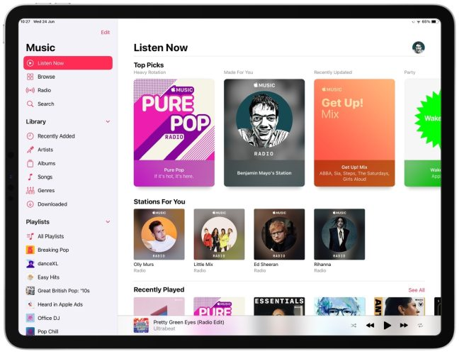 "Apple relaunches Apple Music beta site- with new ""Listen Now"" tab"