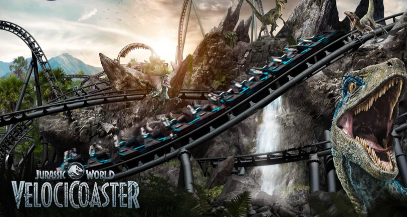 Universal Studios unveiled the Jurassic World VelociCoaster roller coaster