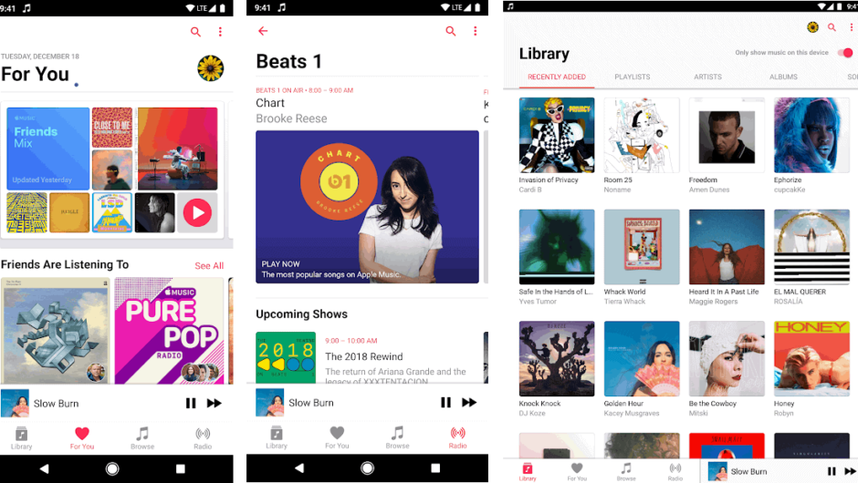 Apple Music for Android- Beats iOS to Crossfade