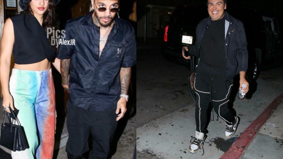 Latin Artist Rosalia and Rauw Alejandro Caught Leaving With Influencer Christian Garcia