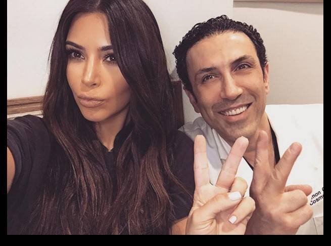 Kim Kardashian and Dr. Simon Ourian
